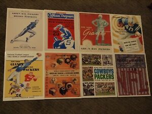 Green Bay Packers 8x10 Program Cover Photos: 8 NFL/ NFC titles 1936-1967
