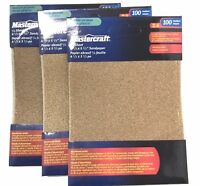 LOT OF 3 (18 SHEETS )100 GRIT 1/4 SHEET PALM SANDER STICK ON SANDPAPER 4 1/2