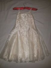 Ladybird Dress Party Bridesmaid Fancy Dress Sequence Bead Ivory Off White 8-9y