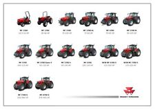 MASSEY FERGUSON TRACTOR COLLECTION THE RANGE STABLE BROCHURE/POSTER ADVERT A3
