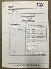 MAE Felgen Gutachten Teilegutachten W220 V220 9 J x 19 H2 ET34