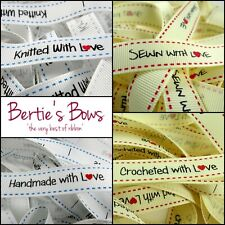 """Bertie/'s Bows 9mm Grey Grosgrain /""""I Love You to the Moon and Back/"""" Ribbon"""