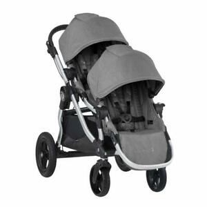 Baby Jogger City Select Double Stroller w/ 2nd Seat Kit - Slate - Open Box!