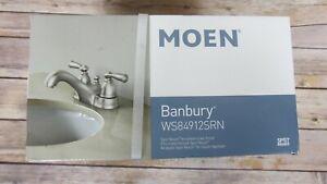 Moen Silver Spot Resist brushed nickel finish Banbury Bathroom Faucet