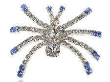 Crystal Rhinestone Austrian Halloween Creepy Spider Insect Fashion Pin Brooch