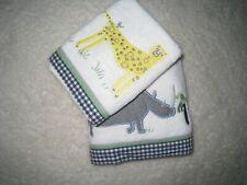 New Pottery Barn Kids Bath Safari Hand Wash Towel 2 Pc Set! Rare Find!