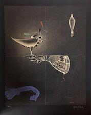 "Paul Wunderlich, Ltd. Ed. Original lithograph, hand signed,""Handschuh und Falke"""