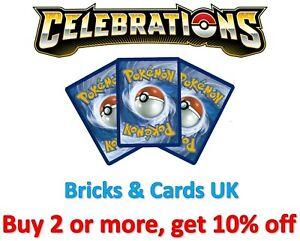 Pokemon TCG Celebrations 25th Anniversary - Ultra Rare / V / VMax / Holo Cards