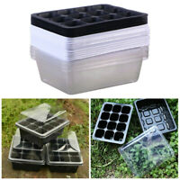 12/24 Cells Seedling Starter Tray Seed Germination Plants Propagation 3/10 Pack