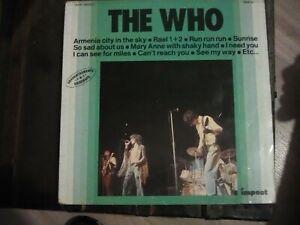 """disque vinyle 33T LP best off de """"the Who"""" en excellent état comme neuf"""
