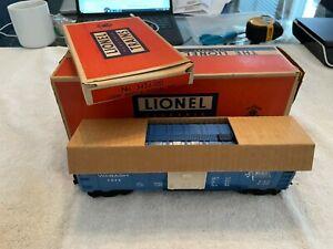 LIONEL TRAIN #3424 POSTWAR OPERATING WABASH BOX CAR w/3424-100 UNRUN??