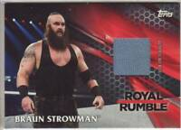 2017 WWE Then Now Forever Royal Rumble mat relic Braun Strowman /299