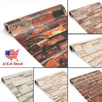 45cm*10m 3D Wallpaper Brick Pattern Self-adhesive Waterproof Wall Paper Decor