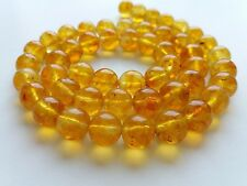 BALTIC AMBER, FREE BEADS WITH HOLE (~ 11,5 MM.) 36 PIECES