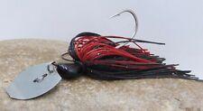 Shaky Blade-Vibrating Swim Jig Black & Red Red Flake HIO115