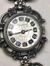 ♛ Alte silberne Damen Trachten Uhr 835er silber  ♛