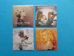 ophélie winter 4 cd singles 2 titres en bon état