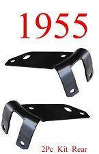55 Chevy Bel Air 2Pc Rear Side Bumper Bracket Set Kit Pair 1955 L&R 150 250