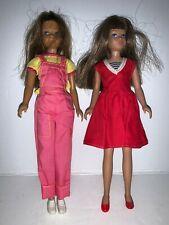 Vintage Pair of 1963 Mattel SKIPPER Barbie Dolls nicely clothed