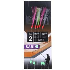 5x Simulation Barbed Sabiki Hook Tackle Rigs Size 2 for Lure Fishing Accessories