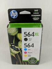 HP 564xl Ink Cartridges Black Cyan Magenta Yellow  Expiration Date Oct 2021