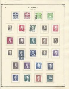 Denmark stamps (only) with 3 souvenir sheets, SCV $76.75