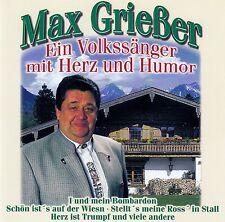 MAX GRIESSER : EIN VOLKSSÄNGER MIT HERZ UND HUMOR / CD - NEUWERTIG