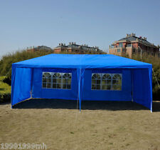 Outsunny 20x10 ft Party Tent Gazebo Wedding Canopy Removable Walls Blue