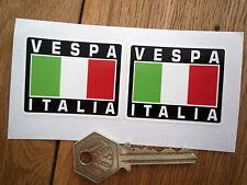 VESPA ITALIA TRICOLORE STILE adesivi 50mm COPPIA SCOOTER CASCO MOD gsgt ITALIANI