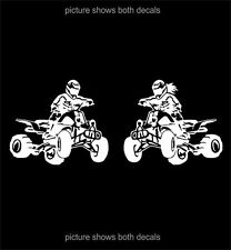 "Quad Offroad 4 Wheeler ATV ManLady Decals Stickers 6.5"""
