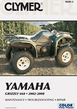 CLYMER QUADBIKE ATV SERVICE REPAIR MANUAL BOOK YAMAHA YFM 660 F GRIZZLY 02-08