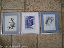 3 dessins d'après Picasso par artiste connu
