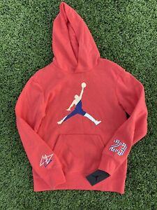 "New Nike Coral Air Jordan DNA Hoodie Boys XL 20�� Armpit & 26"" Length"