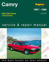 Gregory's Service Repair Manual Toyota Camry SV20 SV21 1987-1989 OWNERS WORKSHOP