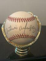 Antonio Alfonseca Signed Autographed Baseball ROMLB Marlins Cubs Braves Rangers