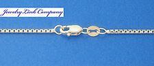 """14K White Gold 1.3mm 8 Sided Box Chain w/ Lobster Clasps 18"""" 5.1grams"""