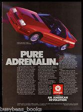 1986 DODGE DAYTONA TURBO Z advertisement, red Daytona Turbo Z t-bar roof
