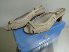 Vici Womens Sling-back Shoes 9M Luci Concrete with Box and Bag