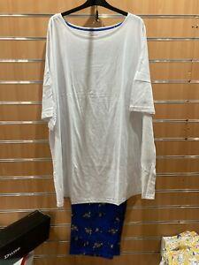 Pretty Secrets pyjama set uk ladies plus size 32-34 BNIP  Longer top