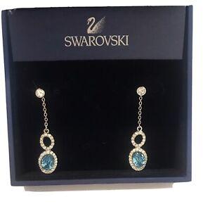 SWAROVSKI Blue Crystal Drop Earrings - Worn once