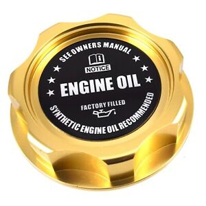New Gold Engine Oil Filler Cap For Nissan Infiniti Nismo GTR 350z 370z 240SX