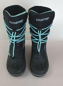 Campri Women Black Snow Boots Size UK 5