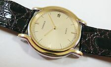 Lassale by Seiko Two-Tone Base Metal 5L14-6A10 Leather Sample Watch NON-WORKING