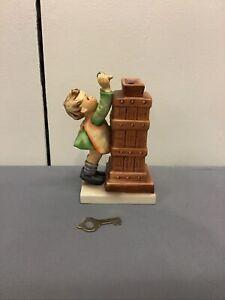 Goebel Hummel TMK-6 Little Thrifty Figurine Bank #116 W/Key Signed 1979-91