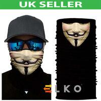 Multiuse Skulls Biker Balaclava Neck Tube Warmer Snood Scarf Face Mask Halloween