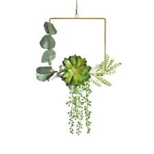Wedding Artificial Hanging Garland Simulation Plastic Fleshy Iron Wreath Nordic