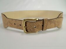 Cole Haan Leather Belt Snakeskin Snake Print Wide B27001 Tan Large 34 36