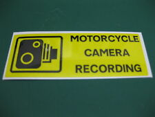 1 MOTORCYCLE CAMERA RECORDING STICKER 110mm x 40mm