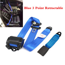 Car Seat Belt Lap 3-Point Safety Travel Adjustable Retractable Auto Safety Belt
