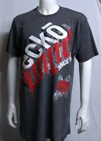 ☆NWT ECKO UNLTD AUTHENTIC MEN'S GRAY RED WHITE  SHORT SLEEVE T-SHIRT SIZE XL